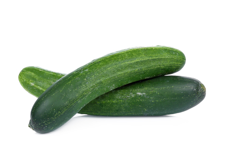 long cucumber isolated on white