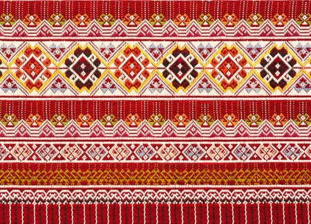 Close-up pattern of Teen-Jok cloth  from Northern Thailand photo