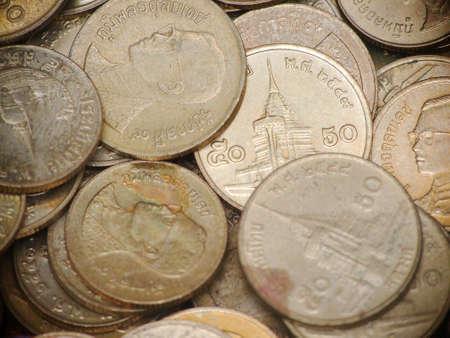 Thai Various old coins  photo
