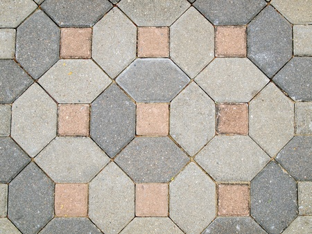 The beautiful patterns on the brick walkway photo