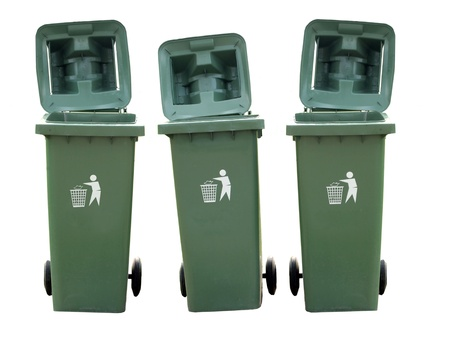 Recycle Bins Isolated photo
