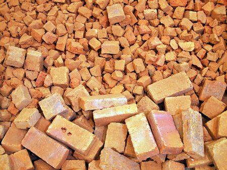 hard core: Broken bricks