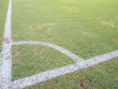 Corner of a football  soccer
