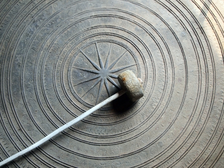 exotic gleam: Ancient Thai gong