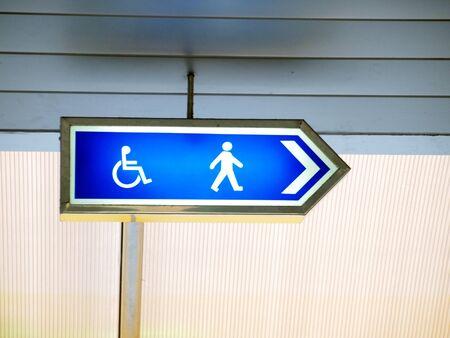 Disabled Badge walk way