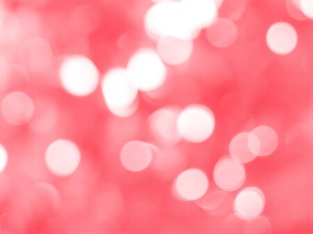 Red christmas background with bokeh lights photo
