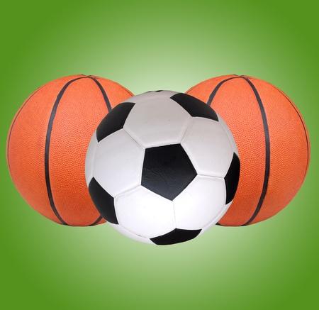 Football, basketball photo