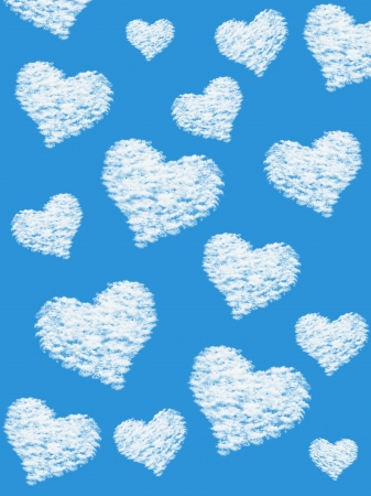 Fluffy cloud of the shape of heart Stock Photo - 21373074