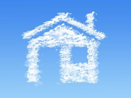 House shape clouds photo