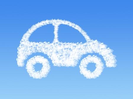 Cloud shaped as car ,dream concept  Standard-Bild
