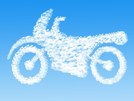 Cloud shaped as Motorcycle ,dream concept