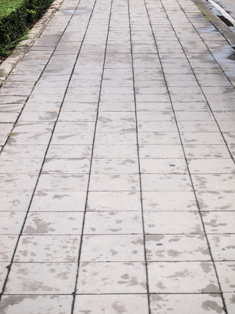 pavement of grey cobble stones photo