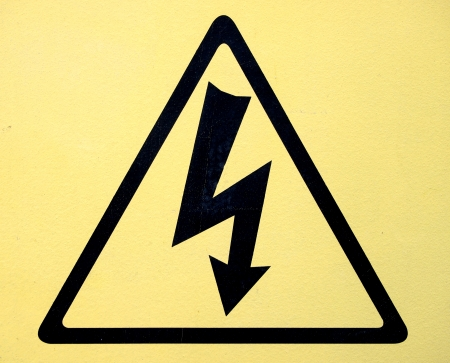 Sign of danger high voltage symbol Stock Photo - 24043729