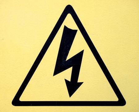 voltage symbol: Sign of danger high voltage symbol