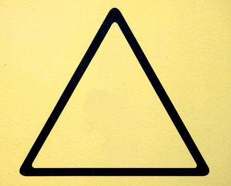 triangular warning sign: triangular warning sign