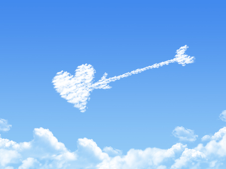 Cloud shaped as love ,dream concept Stock Photo - 24043536