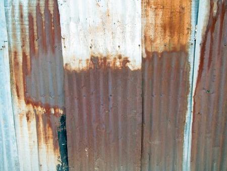 corrugated iron: rusty corrugated iron metal texture  Stock Photo