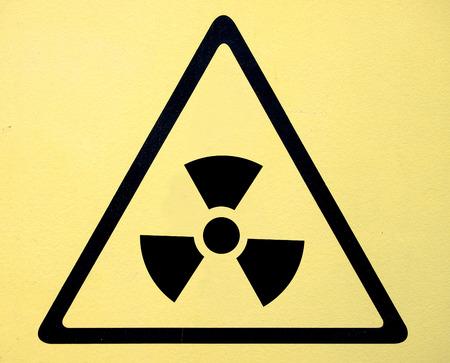 Radiation hazard symbol sign of radhaz threat alert icon