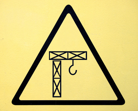 pulley: crane hook or pulley symbol sign Stock Photo