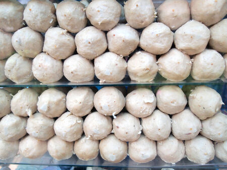 meat ball and pork ball .Thai street food  photo