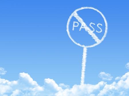 no cloud: No pass sign shaped cloud