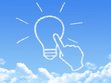 positivism: Cloud shaped as Click Idea