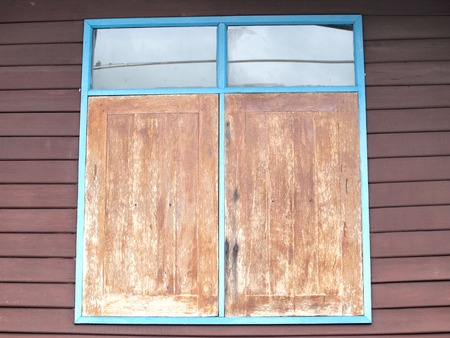 Old wooden window , Thailand traditional style  photo