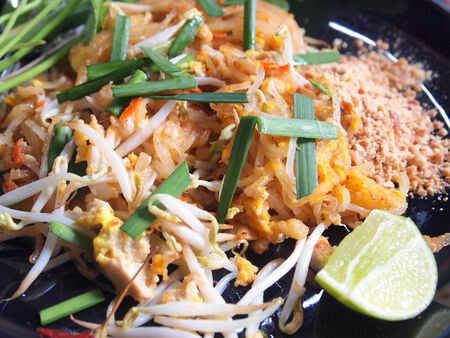 Thai style noodles (Pad thai) photo