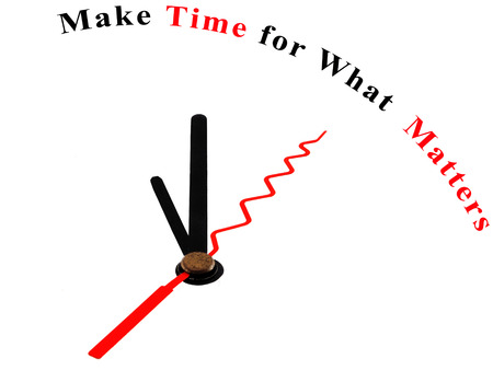 matters: The words Make Time for What Matters on a clock