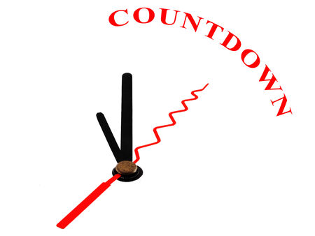 limitation: clock with hands pointing to the word Countdown
