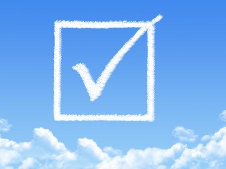 assentiment: Forme de nuage Approuv� Banque d'images