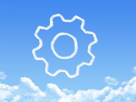 horologe: gearwheel mechanism icon cloud shape