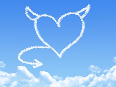 heart cloud shape photo
