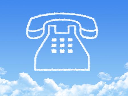 phone cloud shape Standard-Bild