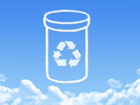 recycle trash bin cloud shape photo