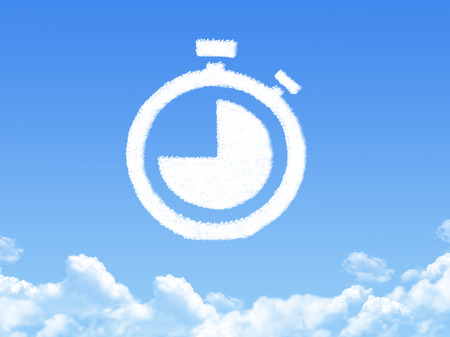 end of time: Stopwatch cloud shape Stock Photo