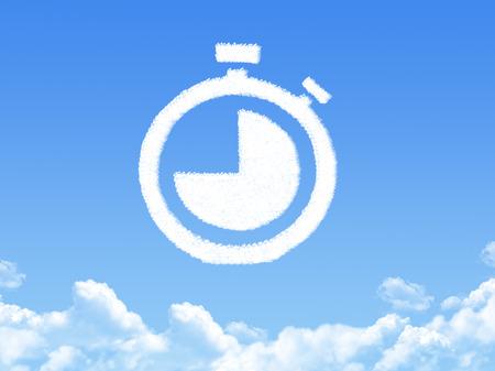 front end: Stopwatch cloud shape Stock Photo