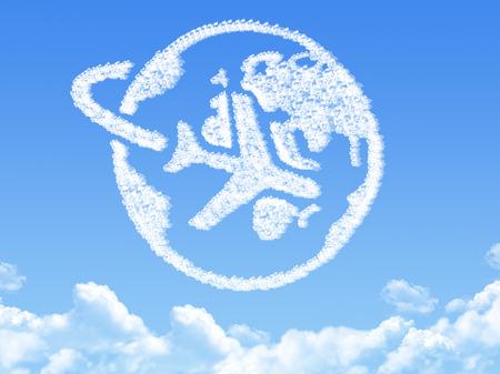 Globe earth shaped cloud Stok Fotoğraf