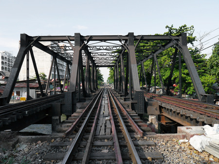 Railway bridge at Bangkok, Thailand photo