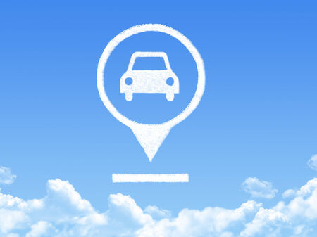 Car location marker cloud shape photo