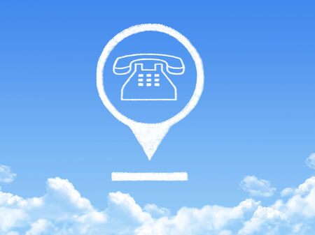 phone location marker cloud shape Stock Photo - 26478843