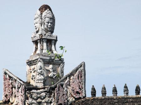 SAMUT PRAKAN, THAILAND - OCTOBER 16 : Khmer arts in the Ancient City on October 16, 2013 in Samut Prakan, Thailand.