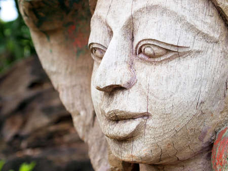 Wood Carving Art at The ancient City, Thailand  photo
