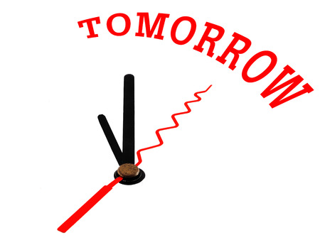 An image of a nice clock with tomorrow