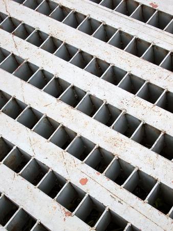 Storm water drain close up photo
