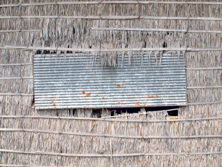 Window and wall of the old house.Thailand traditional style  photo