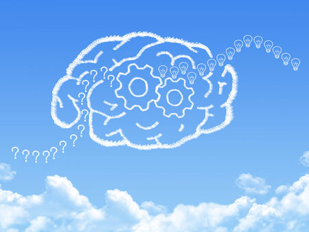 Creative brain Idea concept cloud shape photo