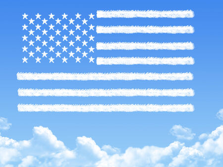 american flag cloud shape photo