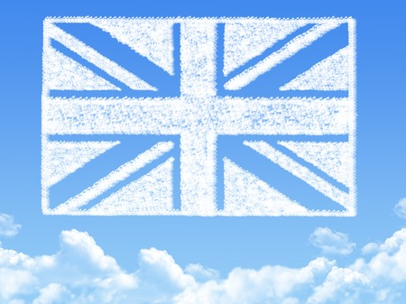 British flag cloud shape photo