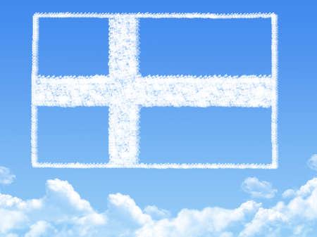 bandera de suecia: Bandera de Suecia forma de la nube